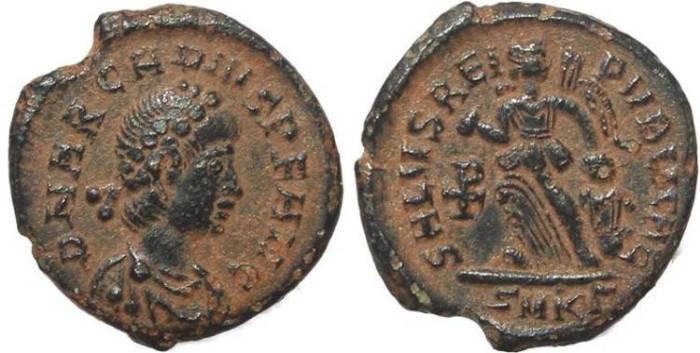 Ancient Coins - Roman coin of Arcadius - SALVS REIPVBLICAE - Cyzicus