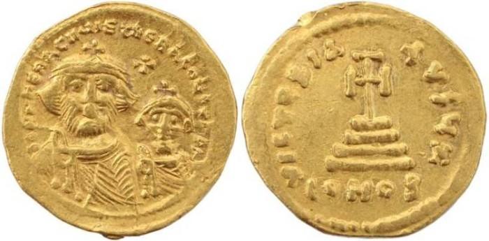 Ancient Coins - Heraclius (610-641 AD) Gold Solidus