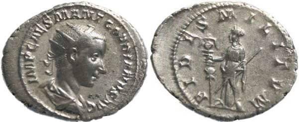 Ancient Coins - Gordian III 238-244AD Antoninianus - FIDES MILITVM