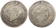 World Coins - BOLIVIA Melgarejo 1865 Proclamation 1/4 Melgarejo (1/5 Boliviano) VF