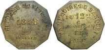 World Coins - FRANCE: Paris Paris Electoral Reform 1848 Token