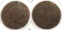 World Coins - SPAIN: Navarre 1831 3 Maravedis