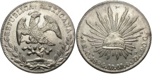 World Coins - MEXICO: 1894 CA MM 8 Reales