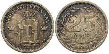 World Coins - SWEDEN: 1897 25 Ore