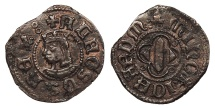 World Coins - SPAIN Menorca (Minorca)  Alfonso IV 1416-1458 Diner  Choice EF