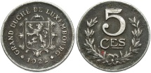World Coins - LUXEMBOURG: 1922 5 Centimes