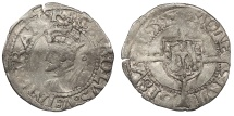 World Coins - FRANCE Besançon Charles V, as Holy Roman Emperor 1530-1556 1/2 Blanc 1539 Good VF