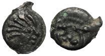 Ancient Coins - Gaul Senones Circa 100-50 B.C. Potin Unit Near EF