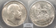 World Coins - GREAT BRITAIN Edward VII 1907 Shilling PCGS MS-64