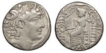 Ancient Coins - Seleukid Kings Philip I Philadelphus 93-83 B.C. Tetradrachm VF