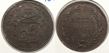 World Coins - ITALIAN STATES: Papal States 1840-XR 1/2 Baiocco