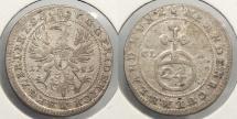 World Coins - GERMAN STATES: Brandenburg-Bayreuth 1759-CLR 1/24 Thaler