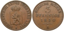 World Coins - GERMAN STATES: Reuss-Schleiz 1850-A 3 Pfennig