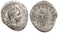 Ancient Coins - Severus Alexander 222-235 A.D. Denarius Rome Mint Near EF