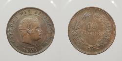 World Coins - PORTUGAL: 1891 10 Reis