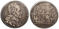World Coins - ITALIAN STATES Papal States Innocent XII MDCIC (1699) Piastra (Scudo of 80 Bolognini) VF