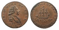 World Coins - GREAT BRITAIN Middlesex 1795 AE Halfpenny Token AU