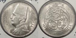 World Coins - EGYPT: AH 1348-BP (1929) 5 Piastres