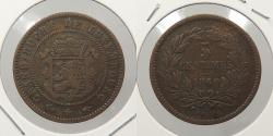 World Coins - LUXEMBOURG: 1860-A 5 Centimes