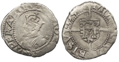 World Coins - FRANCE Besançon Charles V, as Holy Roman Emperor 1530-1556 1/2 Blanc 1541 Near VF