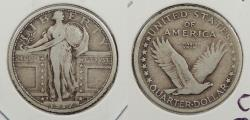Us Coins - 1917-S Standing Liberty 25 Cents (Quarter) Type I