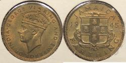 World Coins - JAMAICA: 1945 Farthing