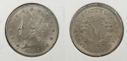 Us Coins - 1883 Liberty Head 5 Cent (Nickel) No 'cents'