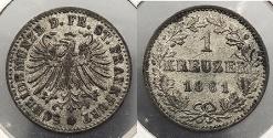 World Coins - GERMAN STATES: Frankfurt 1861 Kreuzer