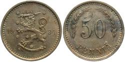 World Coins - FINLAND: 1934 50 Penni?