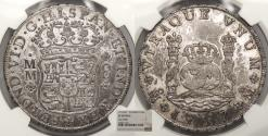 World Coins - MEXICO Ferdinand VI 1757-Mo MM 8 Reales NGC EF