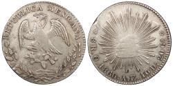 World Coins - MEXICO Oaxaca 1860-Oa AE 8 Reales EF
