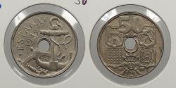 World Coins - SPAIN: 1949 (52) 50 Centimos