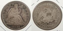Us Coins - 1856-O Seated Liberty 50 Cents (Half Dollar) Repunched 56; WB-103