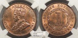 World Coins - BRITISH HONDURAS George V 1936 Cent NGC MS-64 RB