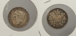 World Coins - CANADA: 1880-H Victoria 5 Cents