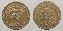 World Coins - PORTUGAL: 1924 Escudo