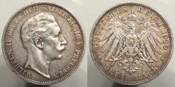 World Coins - GERMAN STATES: Prussia 1910-A 3 Marks