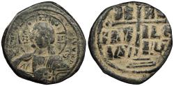 Ancient Coins - Anonymous, attributed to the reign of Romanus III 1028-1034 A.D. Follis Constantinople Mint Good Fine