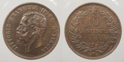 World Coins - ITALY: 1866-M 10 Centesimi