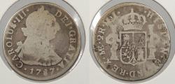 World Coins - PERU: 1787-LIMAE MJ Charles III 2 Reales