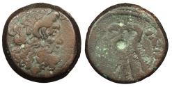 Ancient Coins - Ptolemaic Kings of Egypt Ptolemy VI 180-145 B.C. AE20 Good Fine