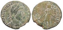 Ancient Coins - Magnus Maximus 383-388 A.D. AE2 Arles Mint Near VF