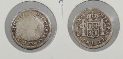 World Coins - PERU: 1774-LIMAE MJ Charles III 1/2 Real