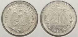 World Coins - MEXICO: 1937-M 20 Centavos