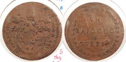 World Coins - ITALIAN STATES: Papal States - Gubbio Yr. 18 (1792-1793) Baiocco