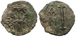 Ancient Coins - Constans II 641-668 A.D. Decanummium Syracuse Mint VF