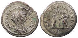 Ancient Coins - Aurelian 270-275 A.D. Antoninianus Mediolanum Mint Near EF