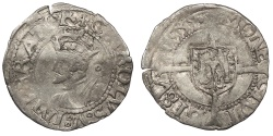 World Coins - FRANCE Besançon Charles V, as Holy Roman Emperor 1530-1556 1/2 Blanc 1539 Good VF