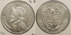 World Coins - PANAMA: 1966 1/2 Balboa