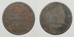 World Coins - CANADA: Upper Canada 1823 Sloop token. Halfpenny Token